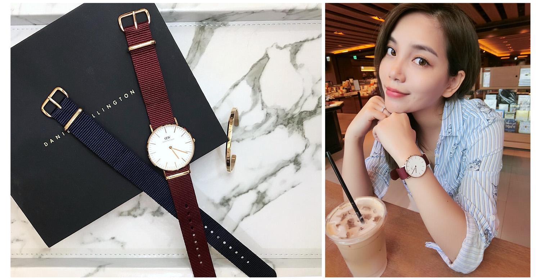 【愛穿搭】DW 2018 新款開箱|Classic 新款腕錶 ♡ 寶石紅&午夜藍