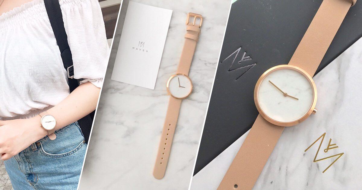 【手錶】超美的大理石錶面 ❤ 香港品牌MAVEN極簡約手錶