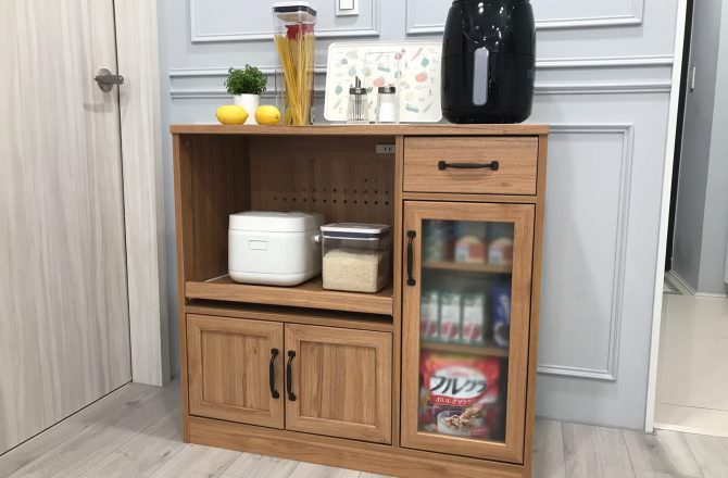 【生活】我的完美主義居家  原木廚房收納櫃