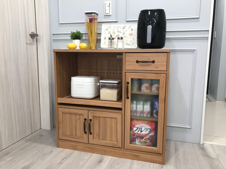 【生活】我的完美主義居家| 原木廚房收納櫃